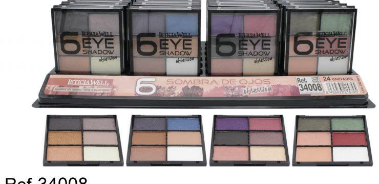 Ref. 34008 Paleta de Sombra Ojos 6 colores – OBSESSION