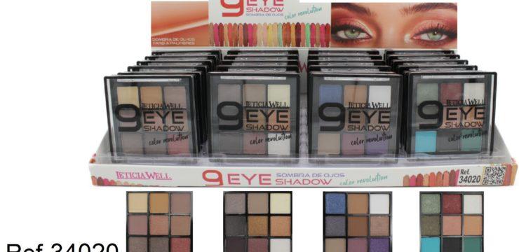 Ref. 34020 Sombra Ojos 9 colores – COLOR REVOLUTION