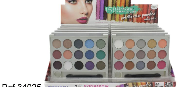 Ref. 34025 PALETTE Sombra Ojos 15 colores – COLOR PARADISE