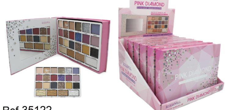 Ref. 35122 PALETA PINK DIAMOND con espejo